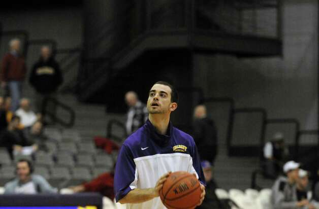 UAlbany's Jacob Iati during their game against S.C. State at the SEFCU Arena in Albany , NY Wednesday Dec. 12, 2012. (Michael P. Farrell/Times Union) Photo: Michael P. Farrell / 00020106A