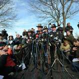 Connecticut State Police Lieutenant Paul Vance addresses a press conference on the situation following an elementary school shooting in Newtown, Connecticut, on December 15, 2012. The residents of an idyllic Connecticut town were reeling in horror from the massacre of 20 small children and six adults in one of the worst school shootings in US history. The heavily armed gunman shot dead 18 children inside Sandy Hook Elementary School, Vance said. Two more died of their wounds in hospital.
