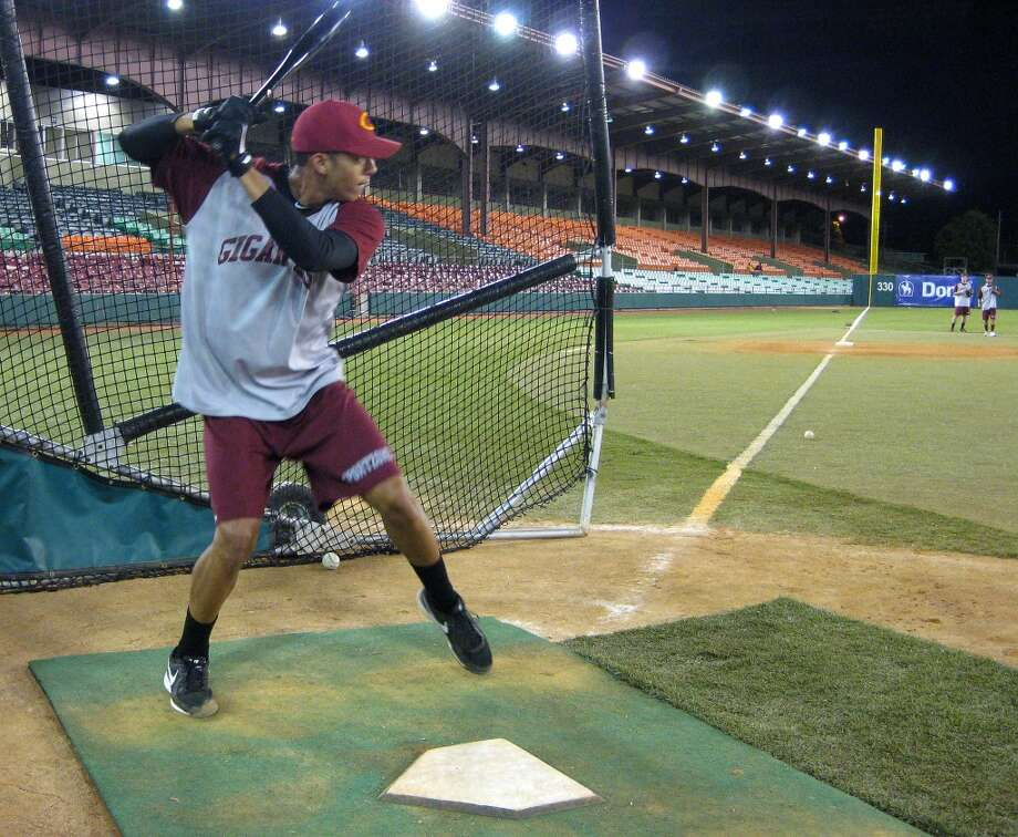 Astros shortstop Carlos Correa prepares to swing Tuesday during batting practice at Estadio Francisco Montaner in Ponce, Puerto Rico. Correa played for Gigantes de Carolina, which defeated Leones de Ponce 3-1 in a winter league game.  (Brian T. Smith/Houston Chronicle)