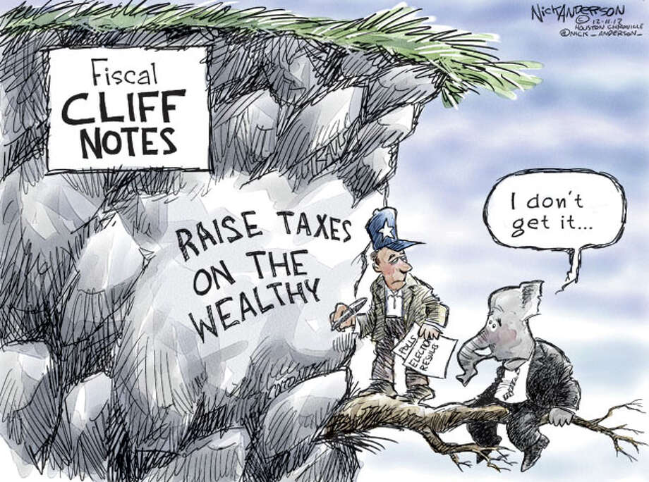 Fiscal Cliff Notes (Nick Anderson  / Houston Chronicle)