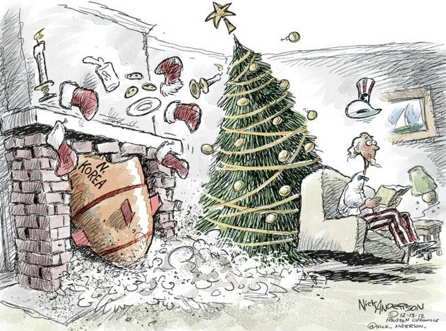 Down the Chimney  (Nick Anderson / Houston Chronicle)