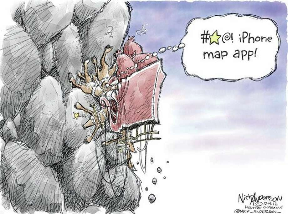 App mishap (Nick Anderson / Houston Chronicle)