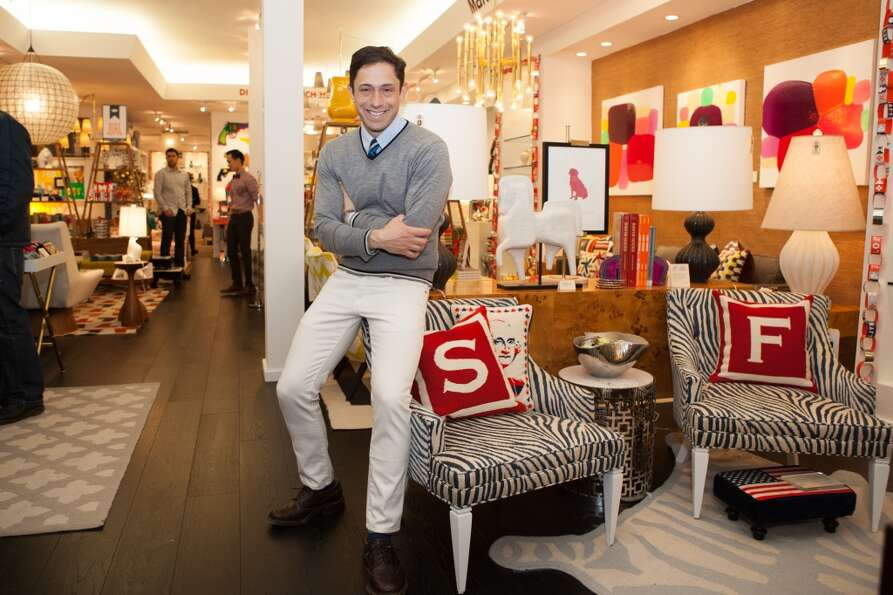 Jonathan Adler at his Fillmore Street boutique (Margo Moritz)