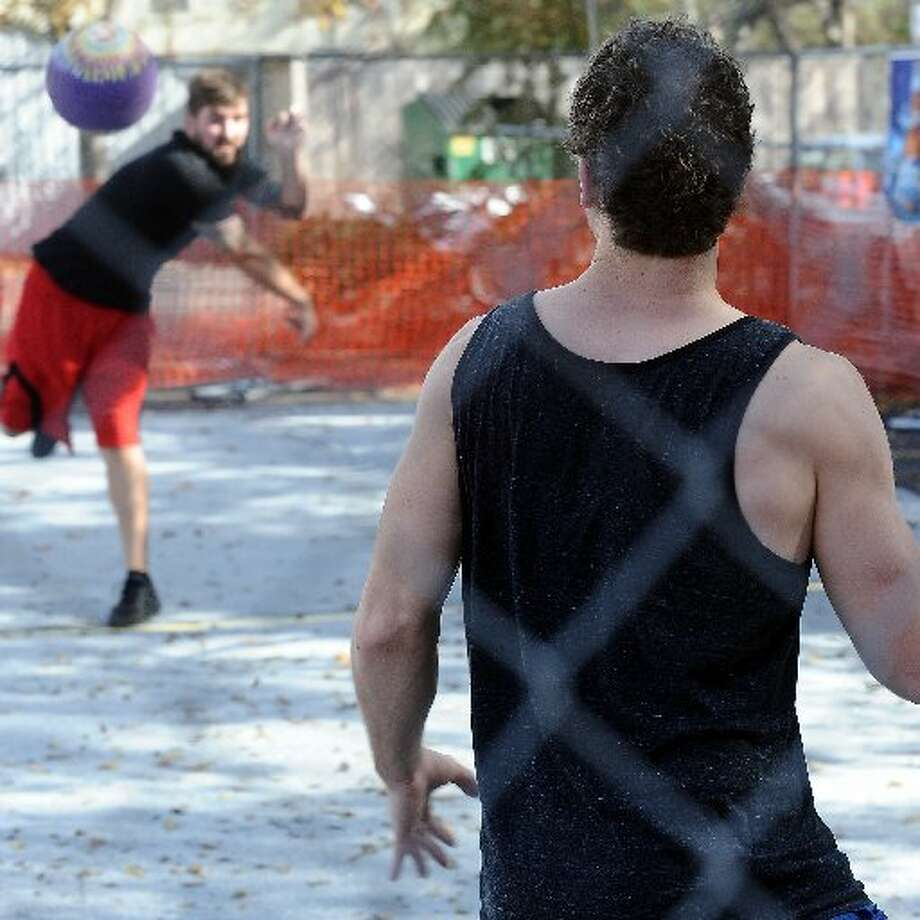 Luke's recently culminated several weeks of dodgeball with a tournament held in the parking lot. Randy Edwards/cat5