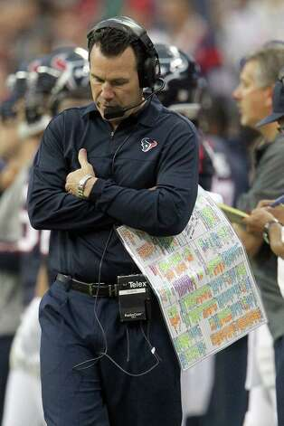 Houston Texans head coach Gary Kubiak on the sidelines during the first quarter of an NFL football game at Reliant Stadium, Sunday, Dec. 16, 2012, in Houston. Photo: Karen Warren, Houston Chronicle / © 2012 Houston Chronicle