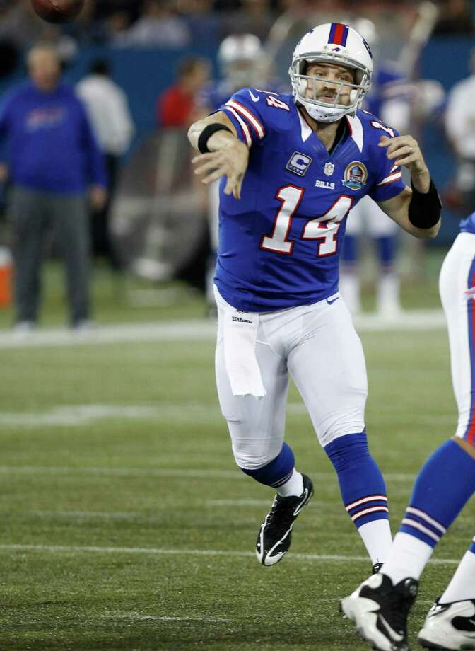 Buffalo Bills quarterback Ryan Fitzpatrick (14) passes against against the Seattle Seahawks during the first half of an NFL football game on Saturday, Dec. 15, 2012, in Toronto. Photo: AP