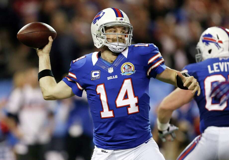 Buffalo Bills quarterback Ryan Fitzpatrick (14) passes against the Seattle Seahawks during the first half of an NFL football game on Sunday, Dec. 16, 2012, in Toronto. Photo: AP