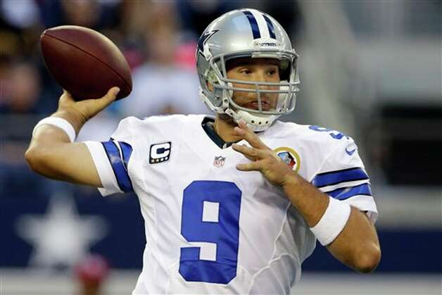 Dallas Cowboys quarterback Tony Romo (9) passes the ball against the Pittsburgh Steelers during the first half of an NFL football game Sunday, Dec. 16, 2012 in Arlington, Texas. (AP Photo/Tony Gutierrez) Photo: Tony Gutierrez, Associated Press / AP
