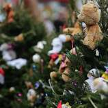 NEWTOWN, CT - DECEMBER 16: Stuffed animals decorate Christmas trees donated in memory of those killed at the  Sandy Hook School December 16, 2012 in Newtown, Connecticut. Twenty-six people were shot dead, including twenty children, after a gunman identified as Adam Lanza opened fire at Sandy Hook Elementary School. Lanza also reportedly had committed suicide at the scene. A 28th person, believed to be Nancy Lanza, found dead in a house in town, was also believed to have been shot by Adam Lanza.  (Photo by Spencer Platt/Getty Images)