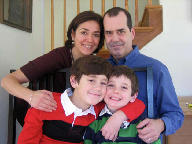 Benjamin Wheeler, 6, bottom right, with his parents, Francine and David Wheeler, and brother, Nate in an undated family photo. Photo: Contributed Photo