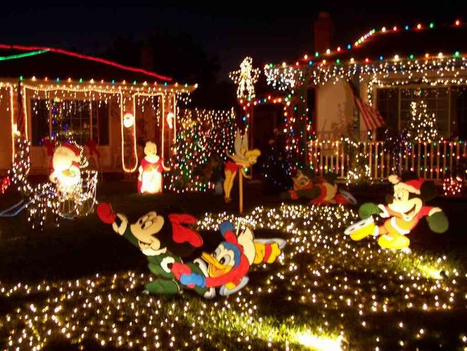 37050 Alameda Ct. Fremont, Alameda County, 94536This house boasts Disney characters ice skating on the front lawn. The house is also covered in lights, with many neighboring houses also decorated beautifully. (lightsofthevalley.com)