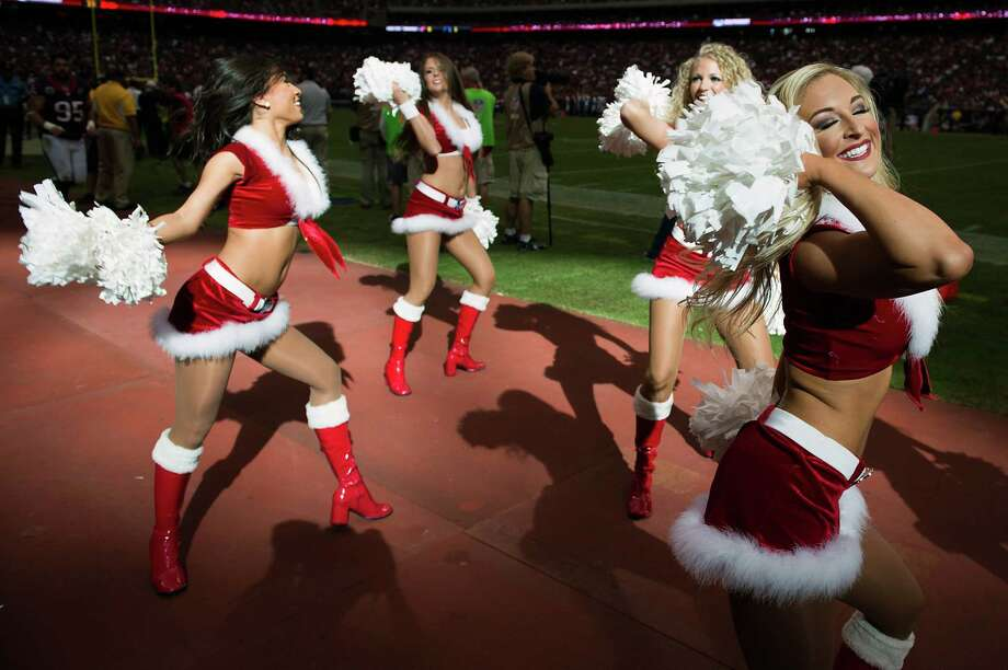 Texans cheerleaders perform during the third quarter. Photo: Smiley N. Pool, Houston Chronicle / © 2012  Houston Chronicle