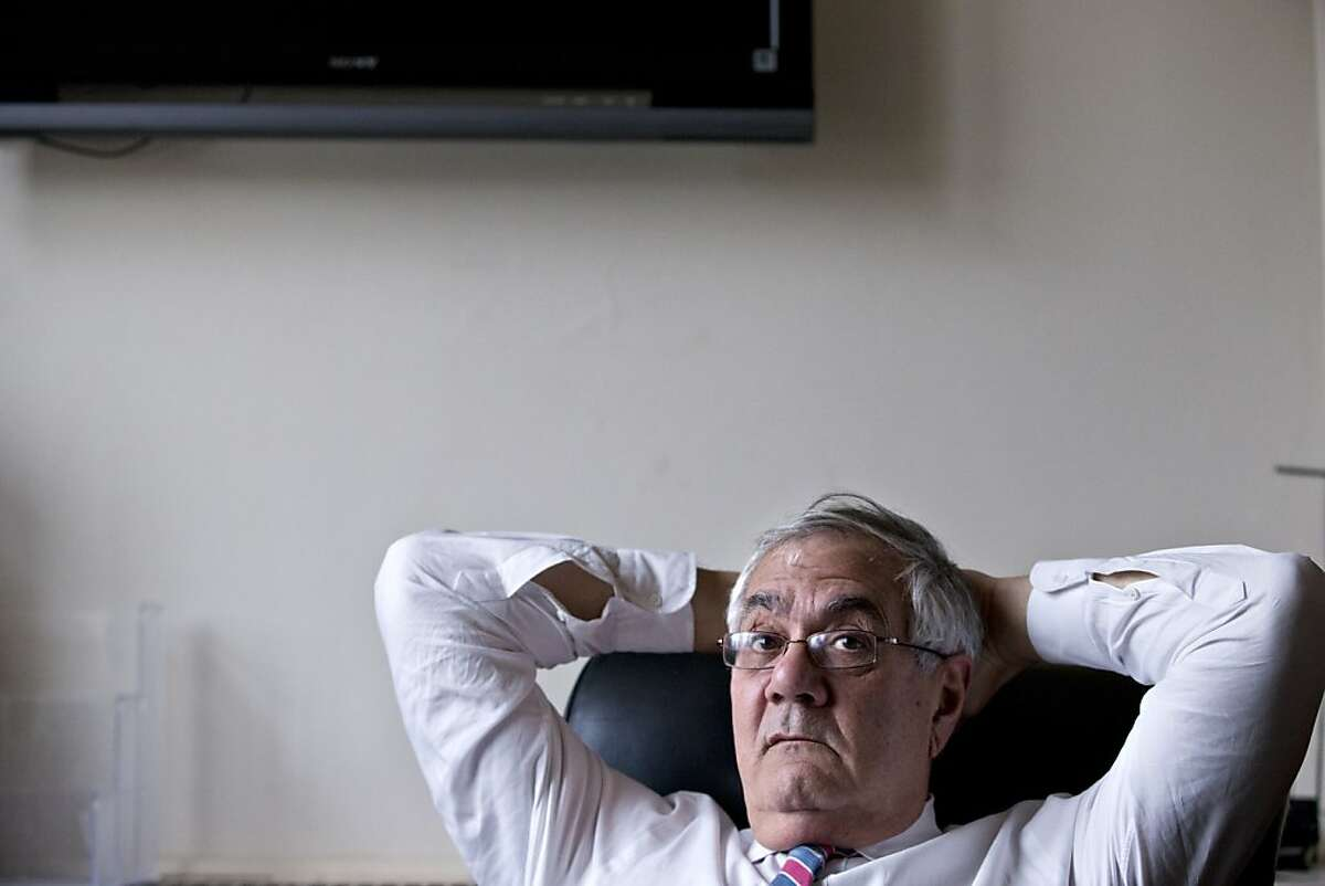 In this photo taken Dec. 12, 2012, Rep. Barney Frank, D-Mass., the nation's most prominent gay politician, leans back in his chair as he talks about his impending retirement during an interview with The Associated Press, on Capitol Hill in Washington. (AP Photo/J. Scott Applewhite)