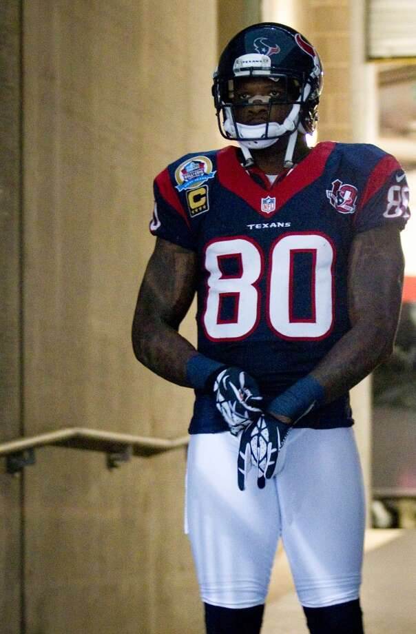 Texans wide receiver Andre Johnson stands in the tunnel waiting to be introduced before the game. (Brett Coomer / Houston Chronicle)