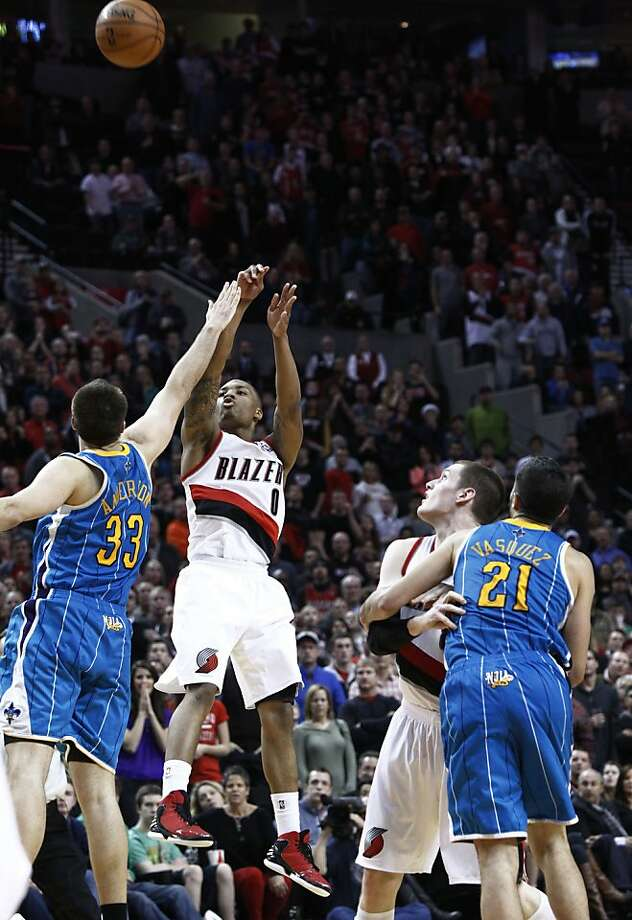 Oakland High grad Damian Lillard's three-pointer with 0.3 of a second left was the winner. Photo: Don Ryan, Associated Press