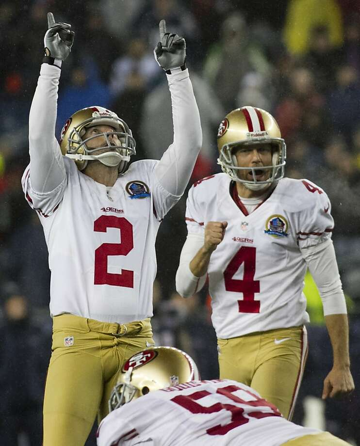 David Akers has pointed to the sky on 25 of 35 field-goal attempts this season. Photo: Kelvin Ma, Special To The Chronicle