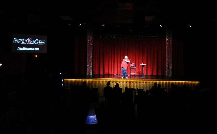 Comedian Justin Thompson performing at Laugh Out Loud. Randy Edwards/cat5