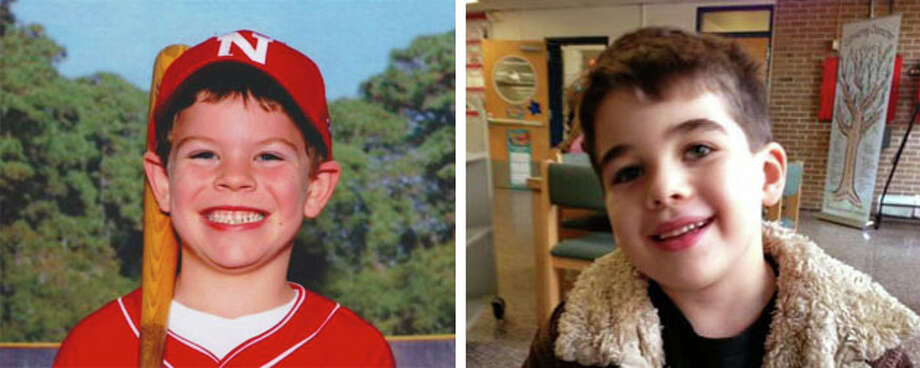 Funerals for Sandy Hook victims Jack Pinto, left, and Noah Pozner, right, are being held today.