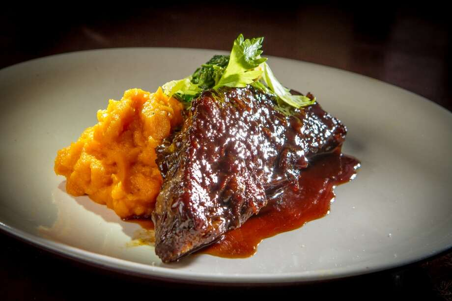 Braised short ribs ($23) were also good and nicely accented with pureed yams, their sweetness modulated with harissa and a pile of charred escarole. In this case, more of the greens would have made the dish even better. (Special to the Chronicle)