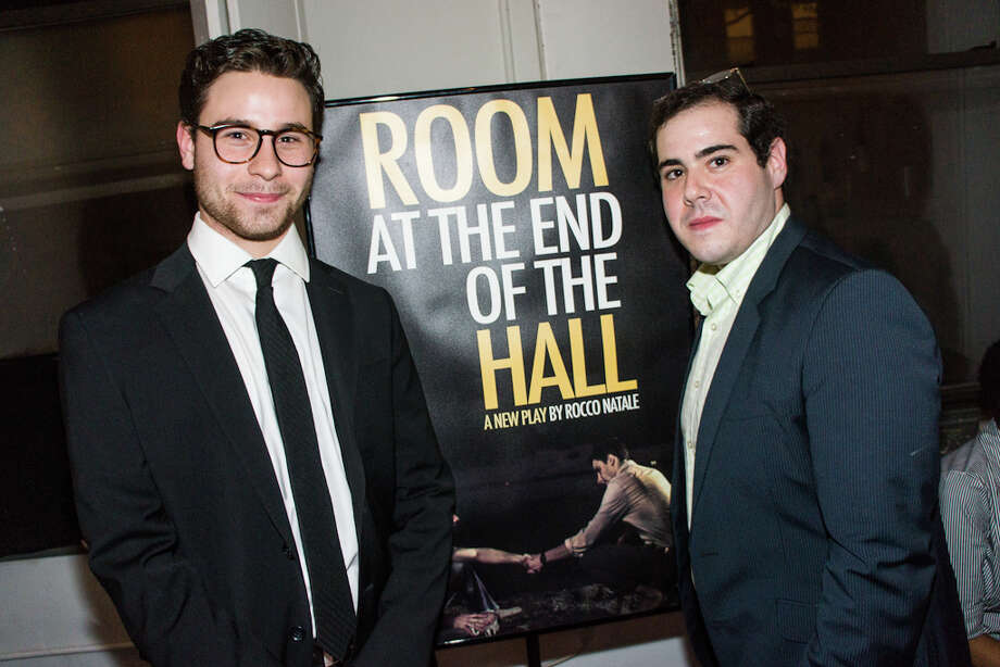 "Greenwich High School graduates Sean Huddock (left) and Rocco Natale are presenting a play off Broadway early next year, with Huddock producing and Natale writing ""Room at the End of the Hall."" Photo: Contributed Photo / Connecticut Post Contributed"