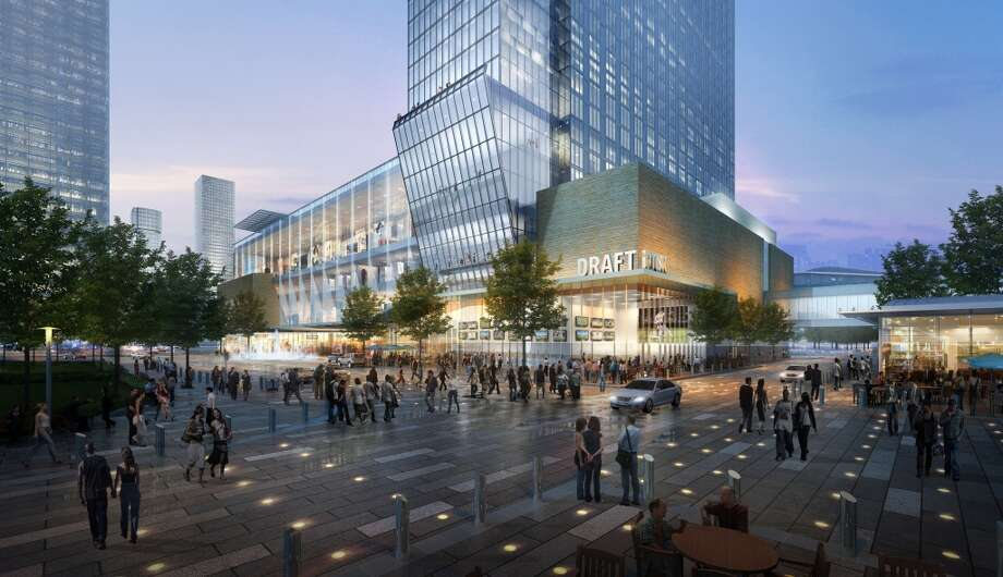 The ground floor will have several restaurants facing Discovery Green and the surrounding streets. There will be lobby entrances on three different streets.