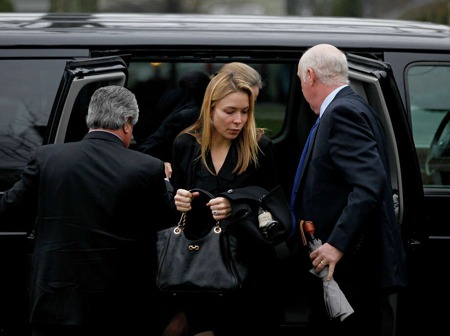 Mourners arrive for the funeral service of Sandy Hook Elementary School shooting victim, six-year-old Jack Pinto, Monday, Dec. 17, 2012, in Newtown, Conn. Six-year-old student Jack Pinto, who was killed Friday when a gunman opened fire inside the Sandy Hook Elementary School, is scheduled to be buried at the cemetery Monday afternoon. Photo: AP
