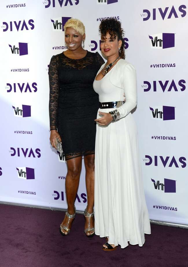 Television personality Nene Leakes (L) and singer Ledisi attends VH1 Divas 2012 at The Shrine Auditorium on December 16, 2012 in Los Angeles, California.  (Photo by Michael Buckner/Getty Images) (Getty Images)