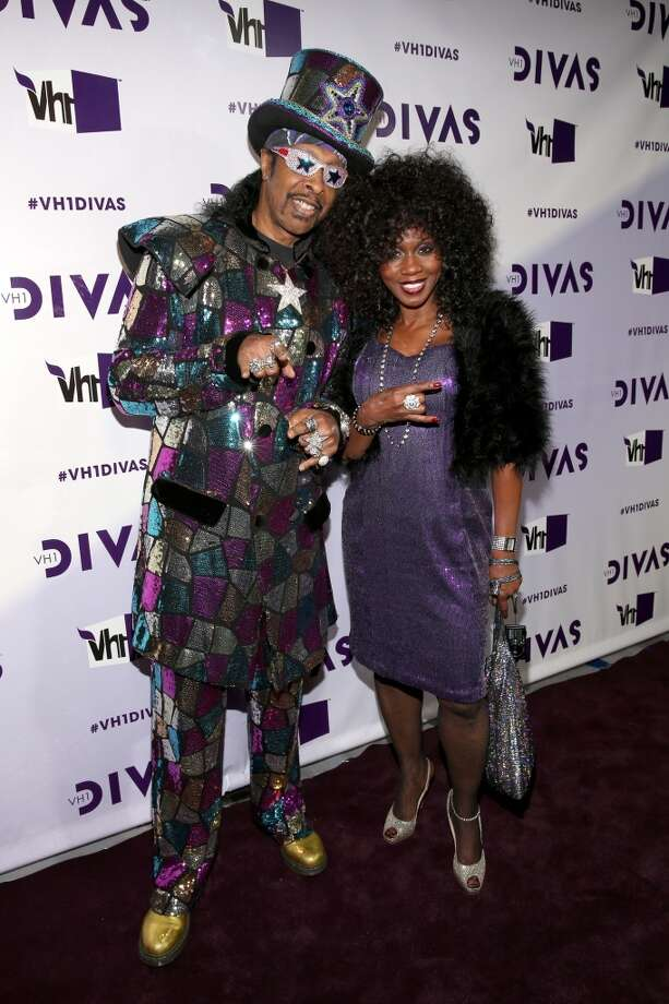 Musician Bootsy Collins (R) and Patti Collins attend VH1 Divas 2012 at The Shrine Auditorium on December 16, 2012 in Los Angeles, California.  (Photo by Christopher Polk/Getty Images) (Getty Images)