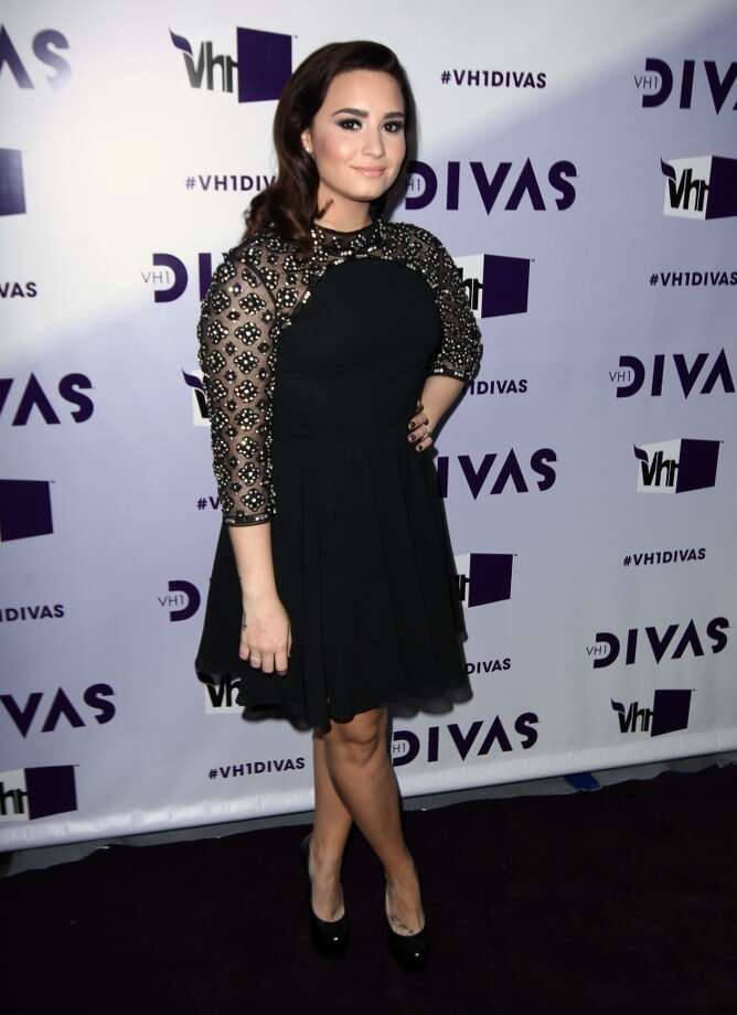 Demi Lovato arrives at VH1 Divas on Sunday, Dec. 16, 2012, at the Shrine Auditorium in Los Angeles. (Photo by Matt Sayles/Invision/AP) (Associated Press)