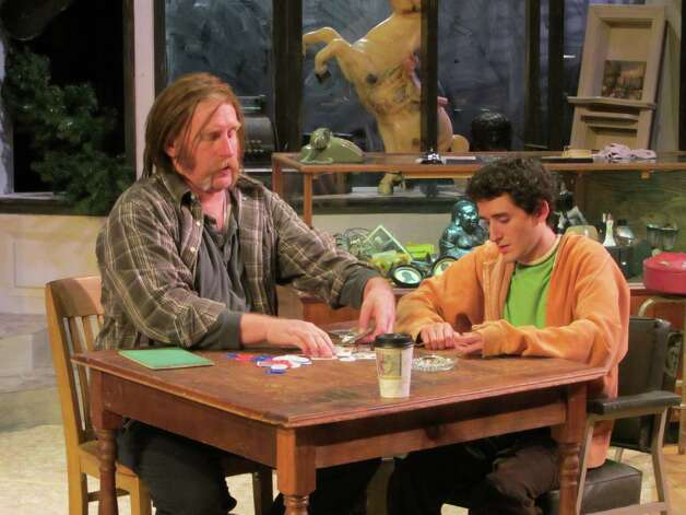 "David Connelly (left) and Cris Boneta  appear in AtticRep's ""American Buffalo.""  Photo: Courtesy, Rick Frederick"