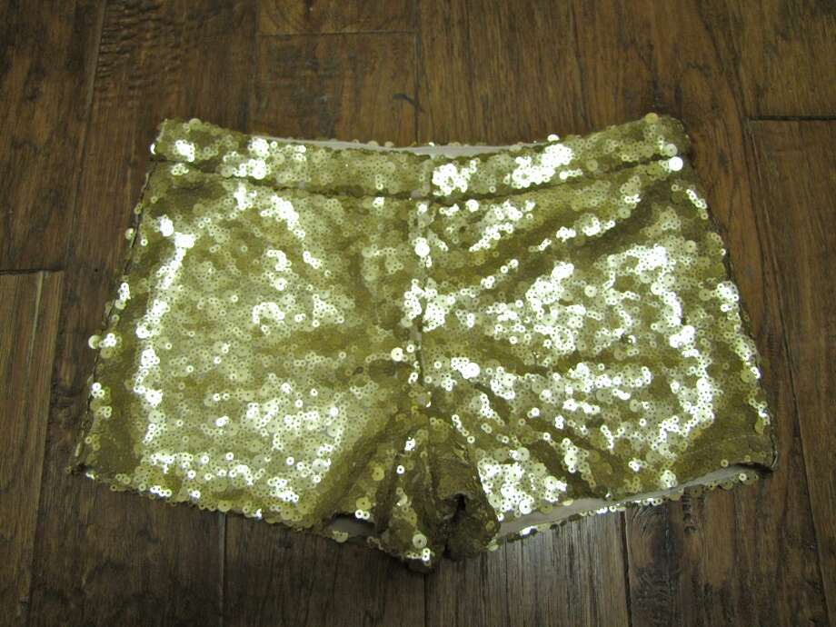 Gold sequin shorts, YaYa Club, Beaumont, $46