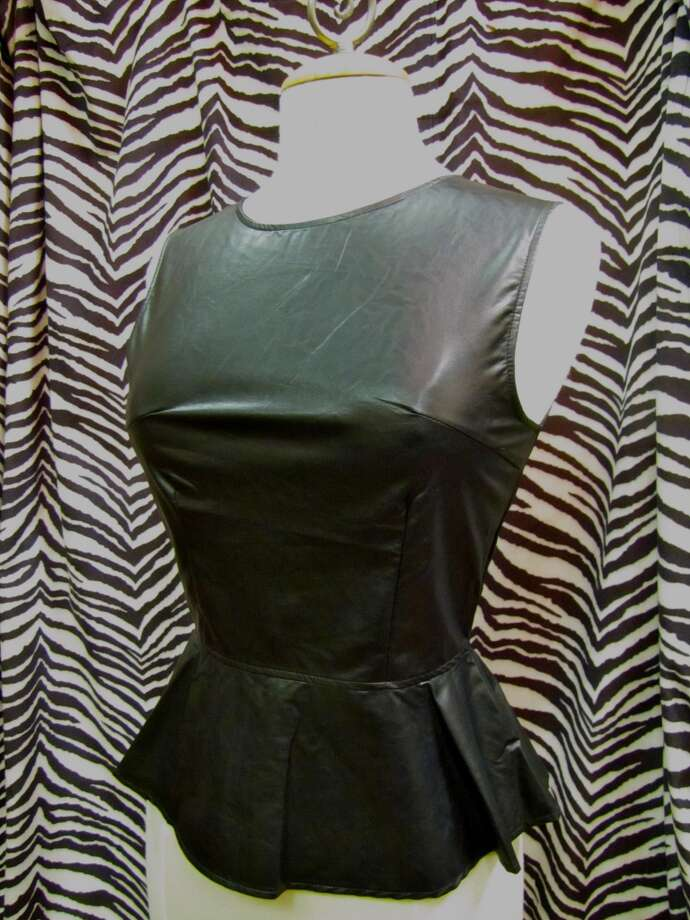 Faux leather peplum top, YaYa Club, Beaumont, $42
