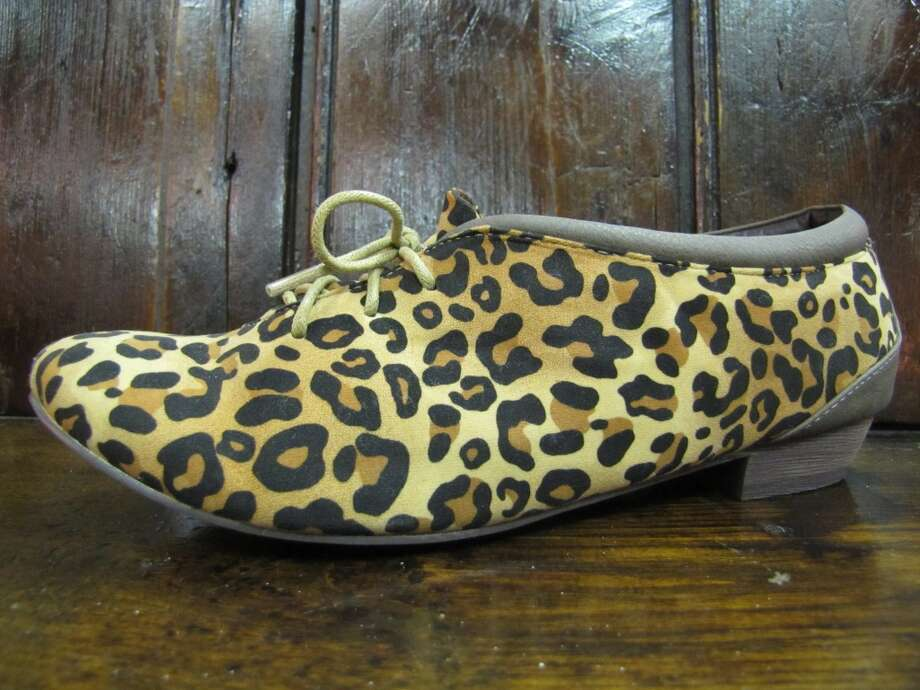 Lace up leopard flats, YaYa Club, Beaumont, $44.95