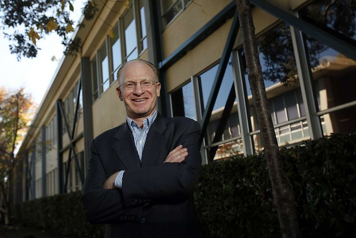 Dr. John Adler, professor of Neurosurgery at Stanford and founder and CEO of Cureus, outside the Cureus offices in Palo Alto, Calif., Monday, December 3, 2012. Cureus is an online open-source peer-reviewed medical journal.