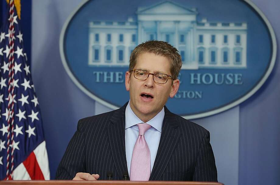 "White House press secretary Jay Carney says the president ""is prepared to make tough choices"" on taxes and benefits. Photo: Mark Wilson, Getty Images"