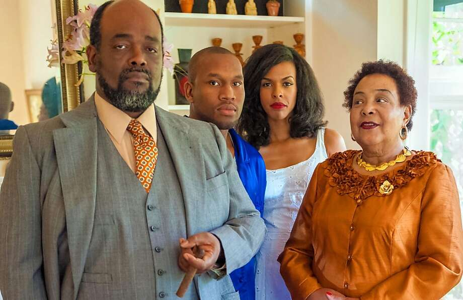 "The African-American Shake-speare Company stages ""Cat on a Hot Tin Roof"" starting Saturday at the African American Art and Culture Complex in San Francisco. Pictured: Peter Temple (left), Tyrone Davis , ZZ Moor and Eleanor Jacobs. Photo: Lance Huntley"