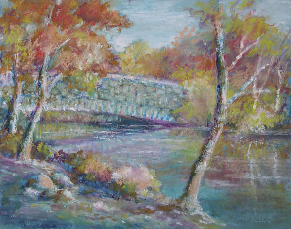 """Mill River Bridge"" by Jean Bowler of Fairfield is on view in the Fairfield County Arts Association Members Show at Independence Hall in Fairfield. Photo: Contributed Photo"