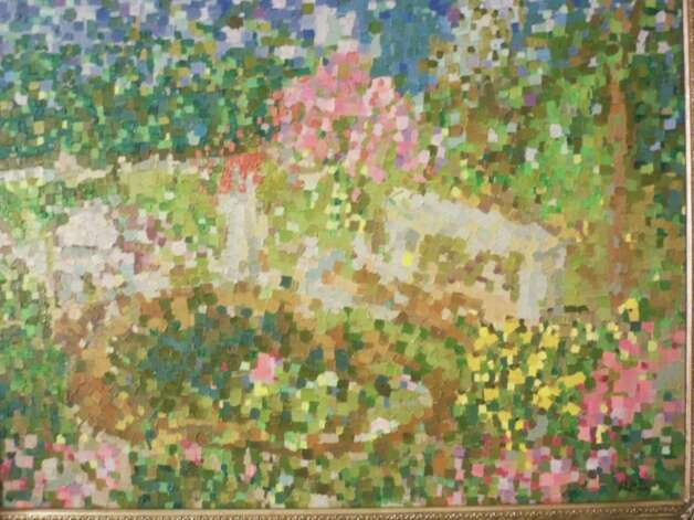 """Monika's Garden"" by Karin Brey of Trumbull is on view in the Fairfield County Arts Association Members Show at Independence Hall in Fairfield. Photo: Contributed Photo"