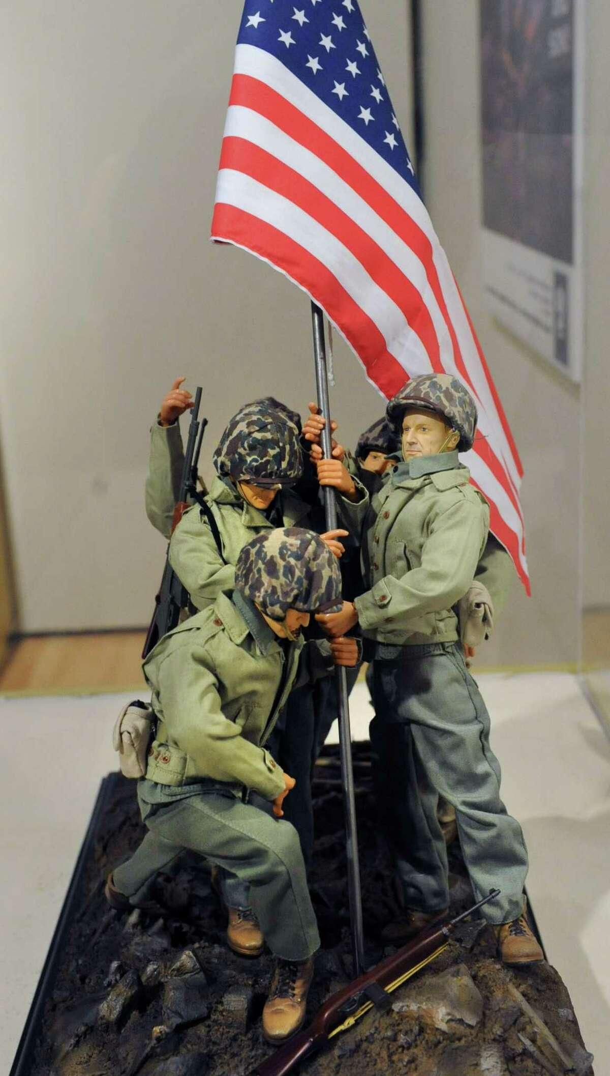GI Joe dolls depicting Iwo Jima at a GI Joe