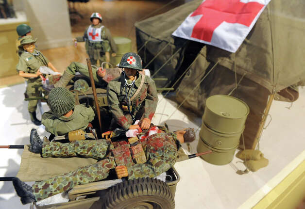 "Detail at a GI Joe ""Toys and Tanks: A Model Military"" exhibit at the NYS Military Museum Monday Dec. 17, 2012 in Saratoga Springs, N.Y. (Lori Van Buren / Times Union) Photo: Lori Van Buren"
