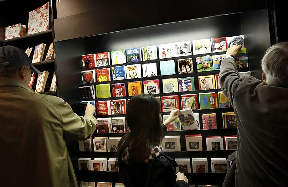 Christmas cards are becoming popular again and stores like Avant-card on Grant Avenue in San Francisco, Calif. specialize in a wide assortment of holiday greetings. Photo: Brant Ward, The Chronicle
