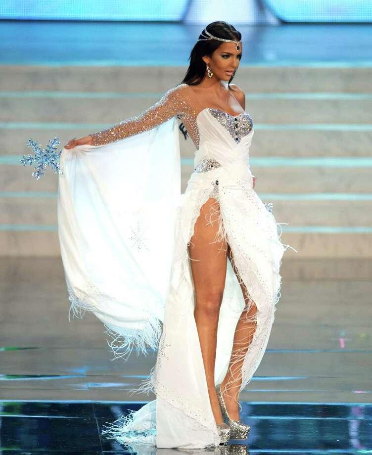 Miss Finland 2012, Sara Chafak. Photo: Matt Brown, Miss Universe Organization / Miss Universe Organization