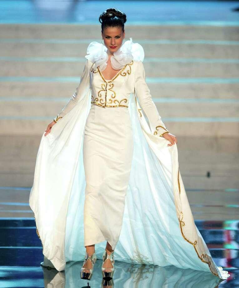 Miss Greece 2012, Vasiliki Tsirogianni. Photo: Matt Brown, Miss Universe Organization / Miss Universe Organization