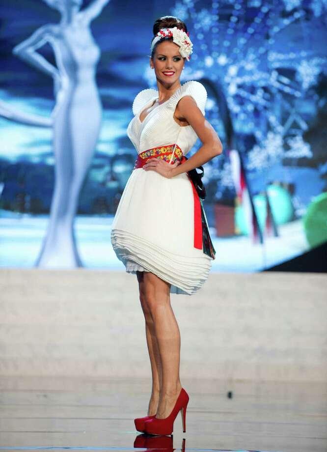 Miss Hungary 2012, Agnes Konkoly. Photo: Darren Decker, Miss Universe Organization / Miss Universe Organization