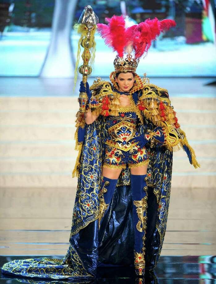 Miss Peru 2012, Nicole Faveron. Photo: Matt Brown, Miss Universe Organization / Miss Universe Organization