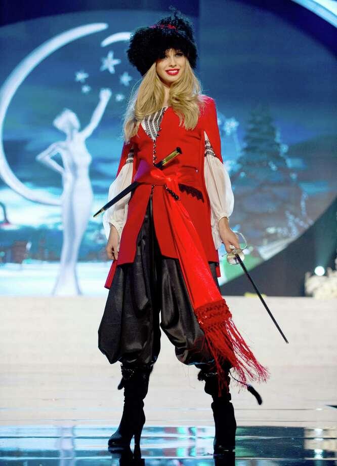 Miss Ukraine 2012, Anastasia Chernova. Photo: Darren Decker, Miss Universe Organization / Miss Universe Organization