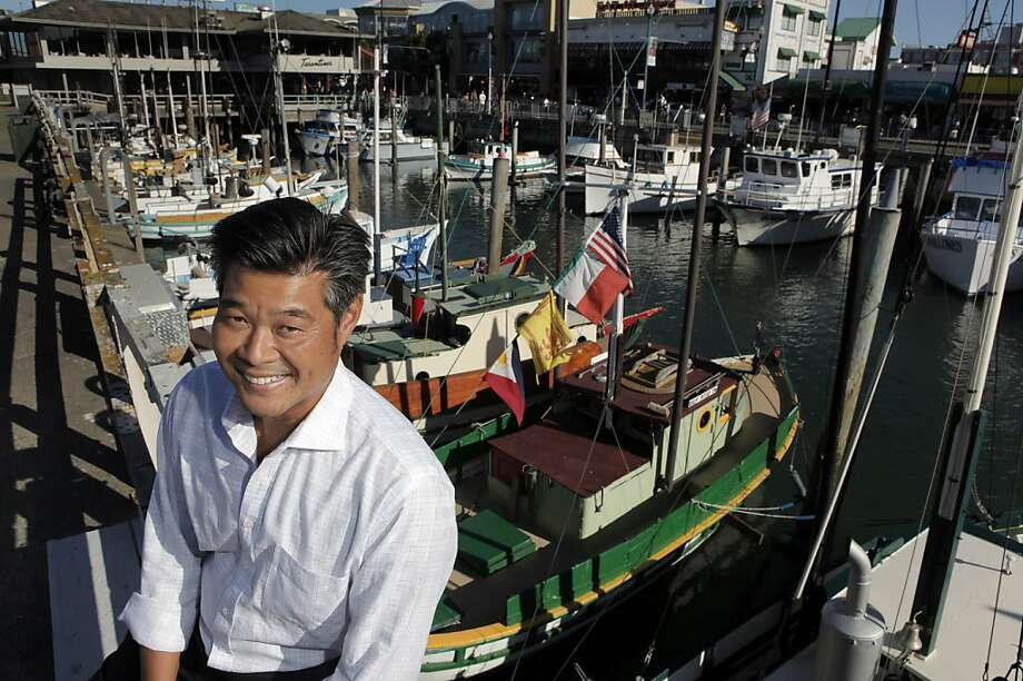 Planning Commission President Rodney Fong, whose family owns the Wax Museum, says Fisherman's Wharf has a new front yard. Photo: Carlos Avila Gonzalez, The Chronicle