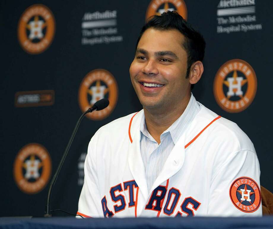 Carlos Pena joins the Astros after averaging 31.8 home runs and 93.5 walks over the last six years. Photo: James Nielsen, Staff / © Houston Chronicle 2012