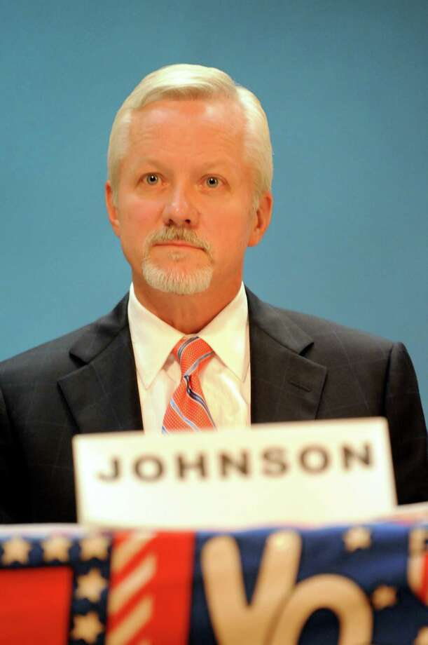 Mayor Scott Johnson during a forum on Thursday, Oct. 22, 2009, at Saratoga Springs High in Saratoga Springs, N.Y. (Cindy Schultz / Times Union) Photo: CINDY SCHULTZ / 00006059A