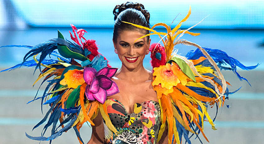 Miss Brazil 2012, Gabriela Markus, performs onstage at the 2012 Miss Universe National Costume Show on Friday, Dec. 14 at Planet Hollywood in Las Vegas. Eighty-eight of the 89 Miss Universe contestants participated; only Miss Sweden did not. The National Costume Show is not a part of the judging to determine who will become the 61st Miss Universe, which will take place Wednesday night in Las Vegas.
